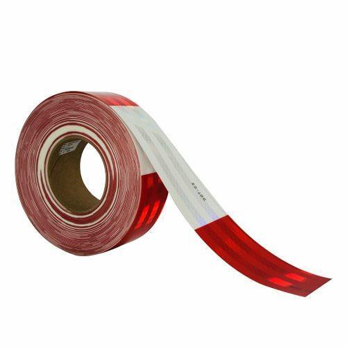 Cinta PVC Reflejante Bicolor p/Vehículo de Carga Blanco/Rojo 98332-2 …