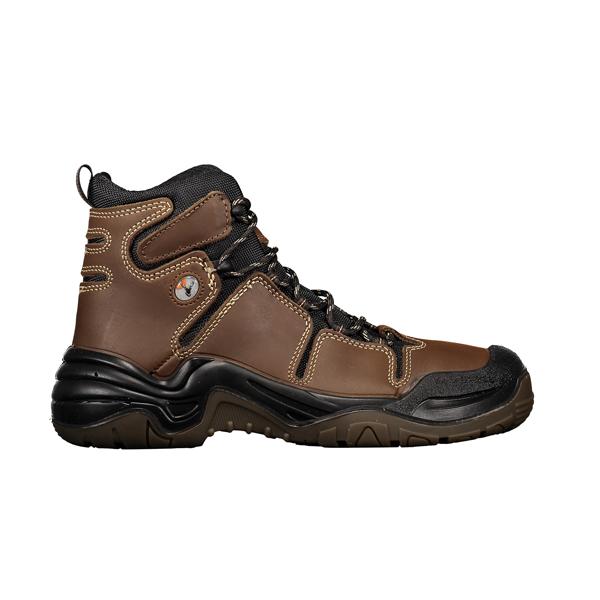 Zapato con Casco de Acero Biotech Berrendo Café 3012