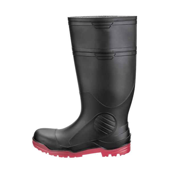 Bota Industrial sin Casco Suela Nitrilo PRO5 DryPro Negro/Rojo DPI400 - 1
