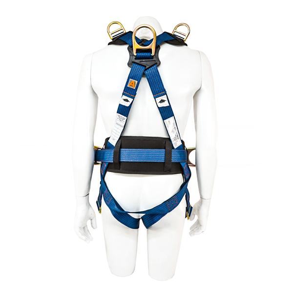 Arnés para Cuerpo Completo con 5 Anillos D y Cinturón Acojinado UFS Azul USP-127-M … - 2