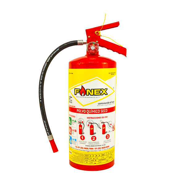 Extintor Cilindro de Lámina de PQS Fanex Rojo … 4.5 kg - 0