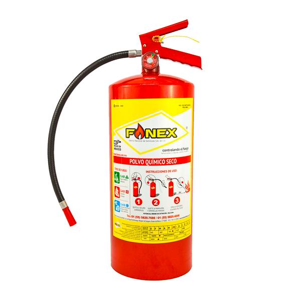 Extintor Cilindro de Lámina de PQS Fanex Rojo … 9 kg