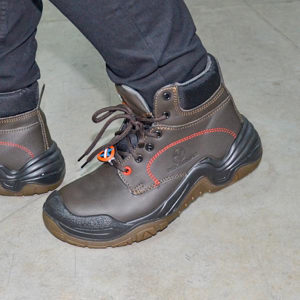 Zapato con Casco Dieléctrico Biotech Berrendo Café 3017 - 3