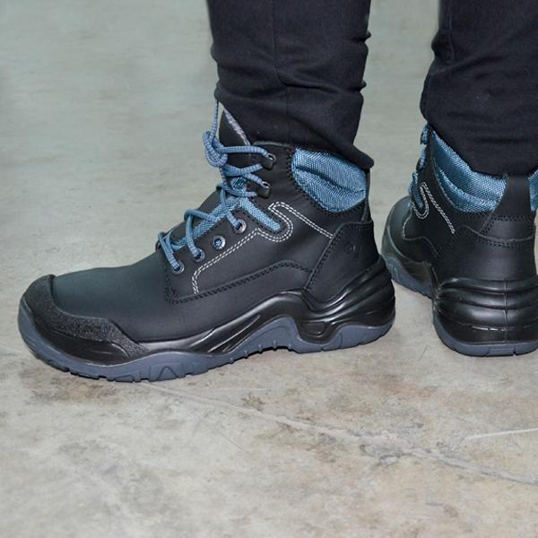 Zapato con Casco de Acero Biotech Berrendo Negro 3010 - 3