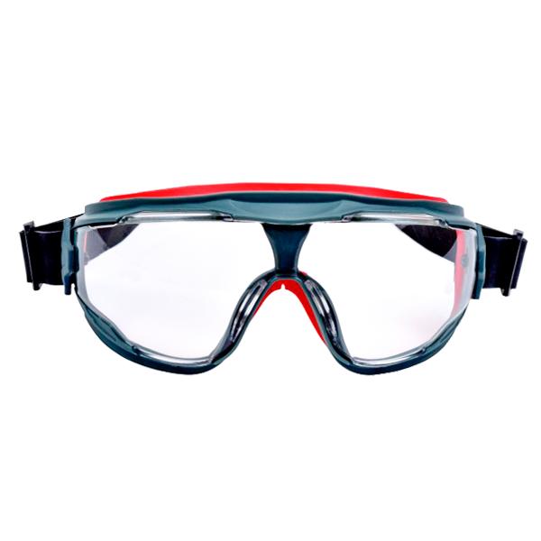 Goggle Policarbonato Armazón Gris/Rojo Ventilación Indirecta con Antiempañante Scotchgard Serie 500 GG501SGAF GoggleGear 3M Transparente 70071674967 … - 0