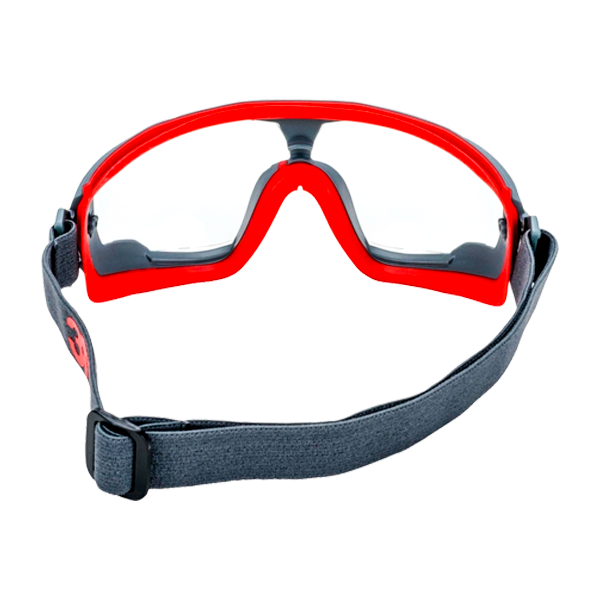 Goggle Policarbonato Armazón Gris/Rojo Ventilación Indirecta con Antiempañante Scotchgard Serie 500 GG501SGAF GoggleGear 3M Transparente 70071674967 … - 2