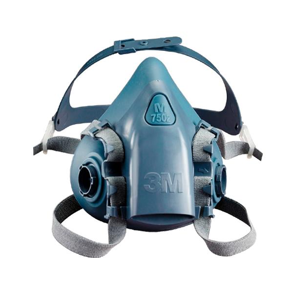 Respirador Silicón Media Cara con Válvula Cool Flow 7502 3M Azul/Gris 70071042785MD - 0
