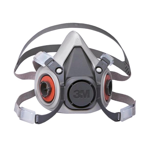 Respirador TPE Media Cara con Válvula de Exhalación 6200 3M Gris 70071606472 MD