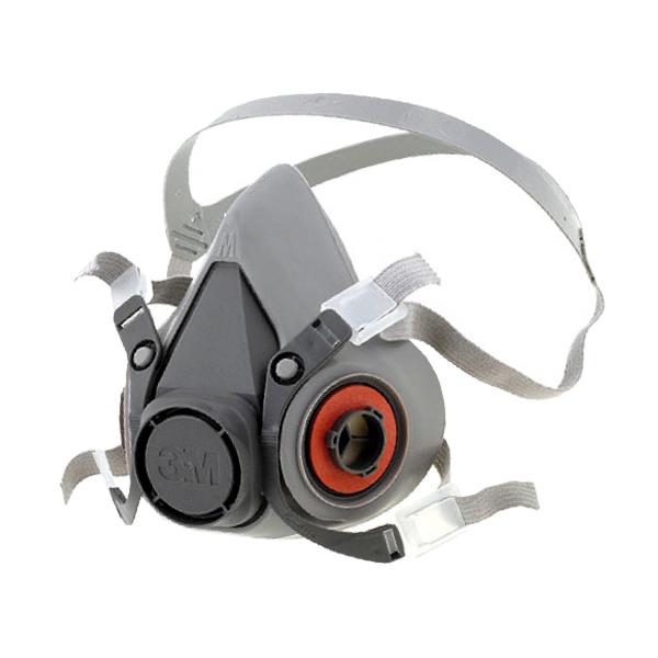 Respirador TPE Media Cara con Válvula de Exhalación 6200 3M Gris 70071606472 MD - 1