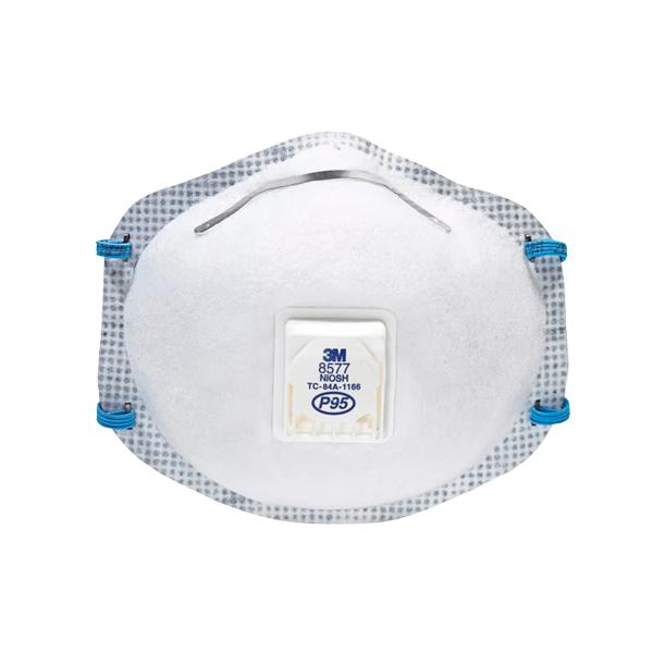 Respirador Desechable con Válvula Cool Flow para Partículas y Vapores Orgánicos P95 8577 3M (Pieza) Blanco 70070757946 … - 0