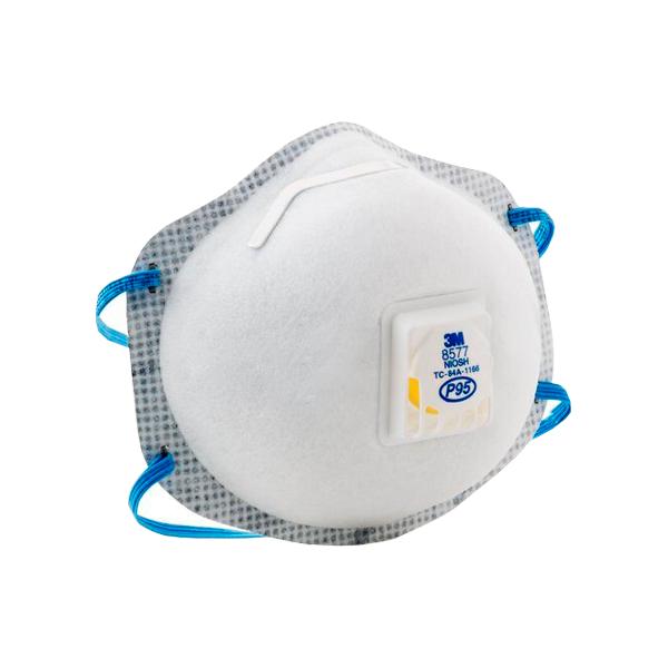 Respirador Desechable con Válvula Cool Flow para Partículas y Vapores Orgánicos P95 8577 3M (Pieza) Blanco 70070757946 … - 1