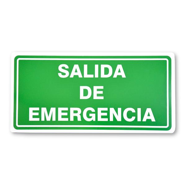 SEÑALAMIENTO 20x40 CM SALIDA DE EMERGENCIA
