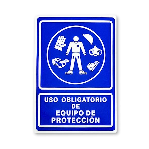 Señalamiento Uso Obligatorio Equipo de Protección Screen Azul O-20 35 x 50 cm - 0