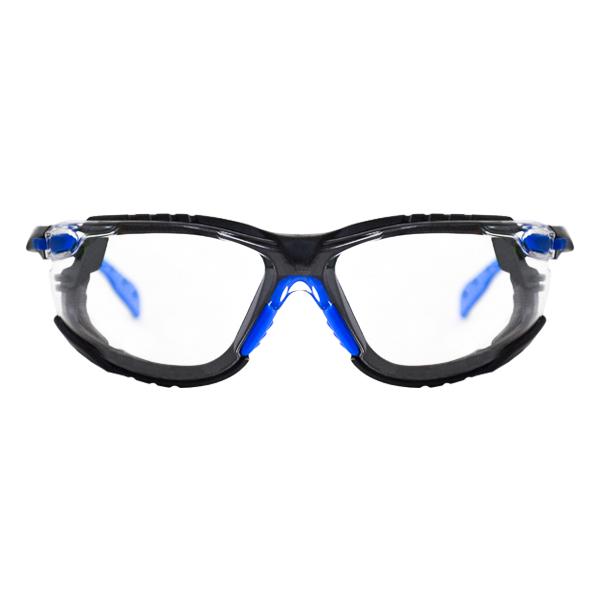 Lente Policarbonato Antiempañante Scotchgard con vertible a Goggle con Armazón Azul Serie 1000 S1101SGAF-KT Solus 3M (Paq. con Patillas Banda Elástica y Junta de Espuma) Transparente 70071694544 … - 0