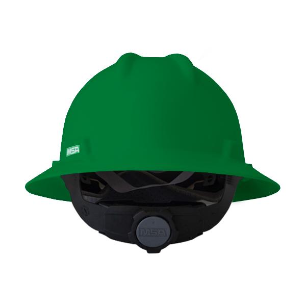 Casco Ala Completa con Suspensión Fas-Trac III V-Gard MSA Verde 10031488 … - 1