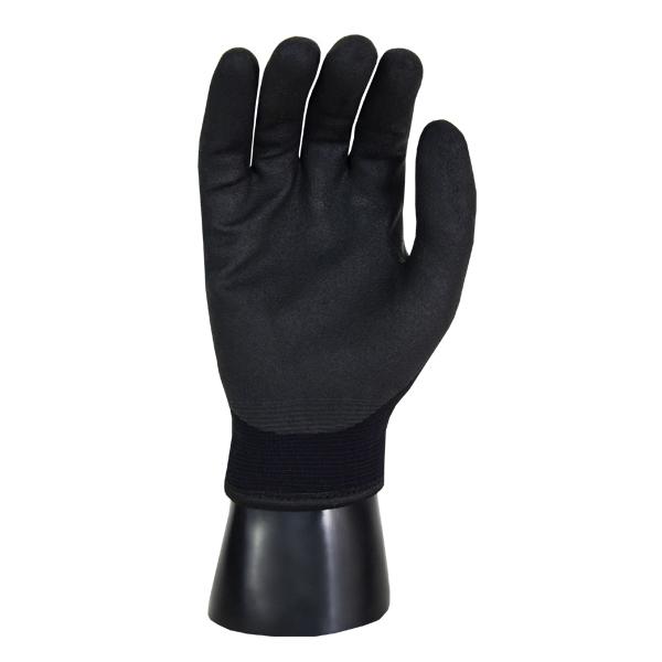 Guante Nylon Acrílico Recubierto de Acrílico Terry Resistente a Cortes Nivel A3 Ice Ninja Memphis MCR (Par) Negro N9690L LG - 1