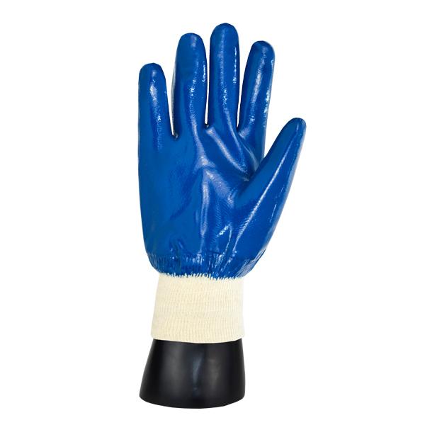 Guante Algodón Jersey Recubierto de Nitrilo Predator Memphis MCR (Par) Azul/Blanco 9751 LG - 1
