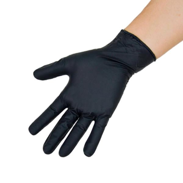 Guante Nitrilo 4.7 mil Clorado Texturizado sin Polvo Microflex Ansell (Paq. con 100 Pza.) Negro 93-252 - 2