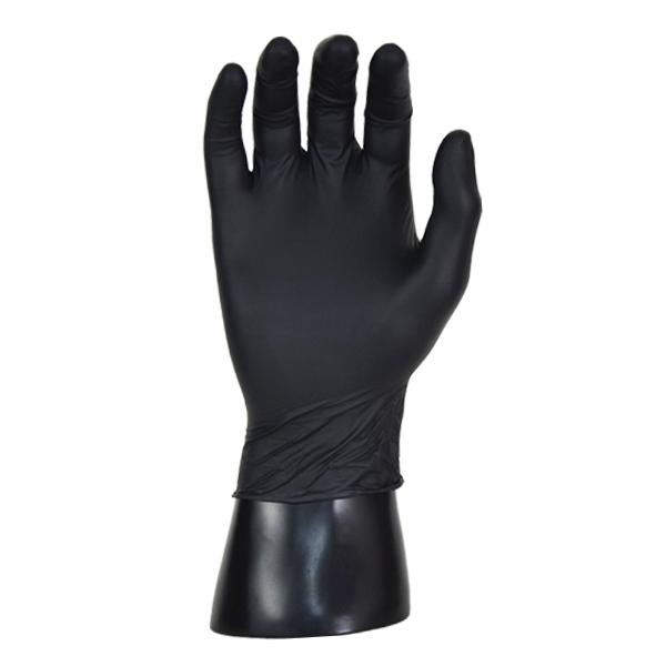 Guante Nitrilo 4.7 mil Clorado Texturizado sin Polvo Microflex Ansell (Paq. con 100 Pza.) Negro 93-252 - 1