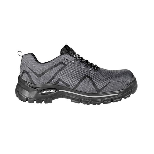 Zapato Tenis con Casco de Policarbonato Dieléctrico X-Port Armada Gris/Negro 156