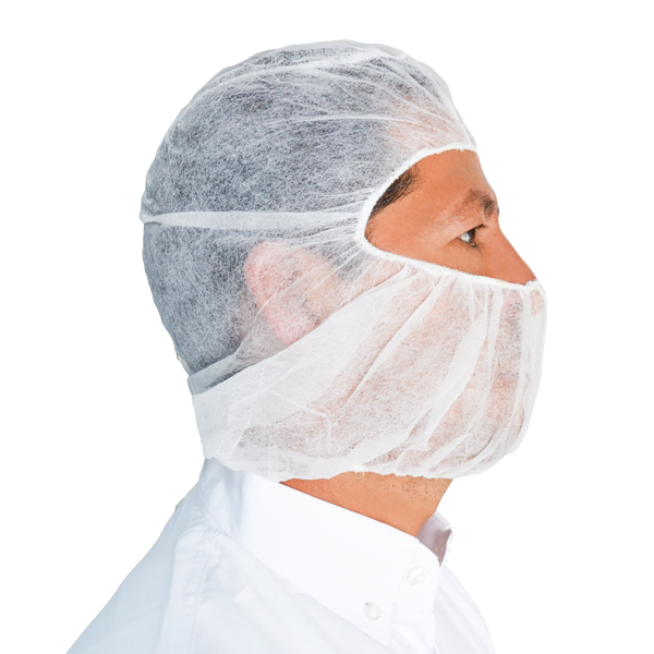 "Cofia Polipropileno Desechable Ninja The Safety Zone (Paq. con 100 Pieza) Blanco DHOOD-1000 21"" - 0"