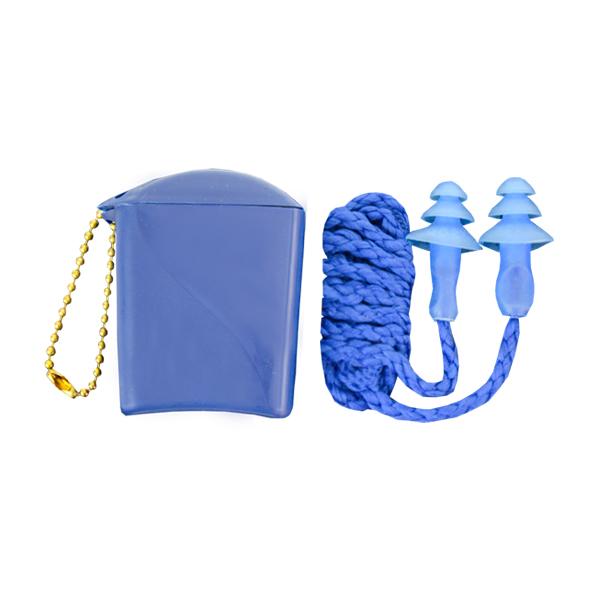 Tapón Auditivo Termoplástico Reutilizable con Cordón Trenzado y Estuche NRR 25 dB 1291 3M (Par) Azul Translúcido HC000664785 …