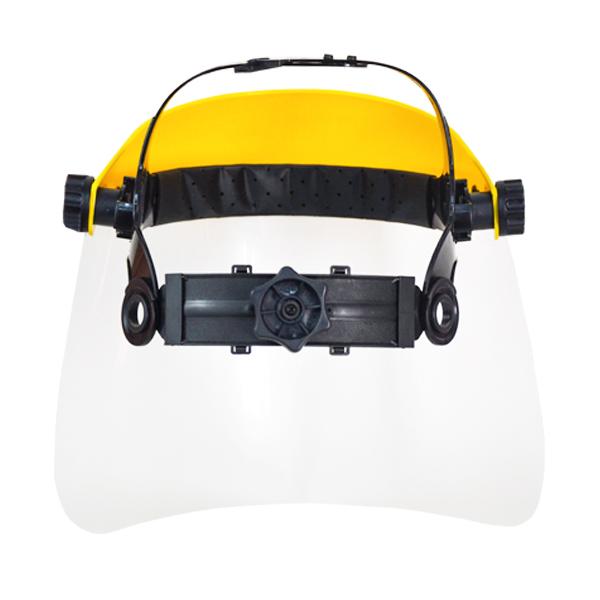 Protector Facial HDPE Mica Clara con Suspensión Matraca Jyrsa Amarillo WW-1117CK … - 2