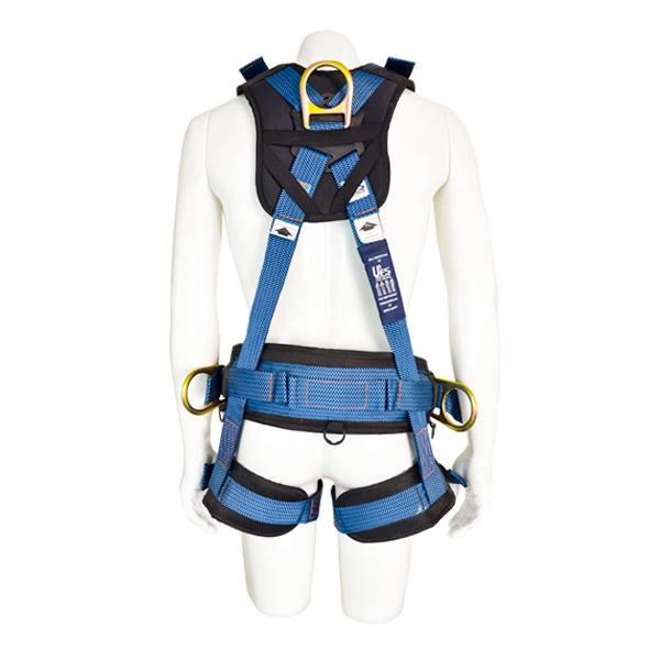 Arnés para Cuerpo Completo con 5 Anillos D y Cinturón Acojinado UFS Azul USP-160-A … - 2