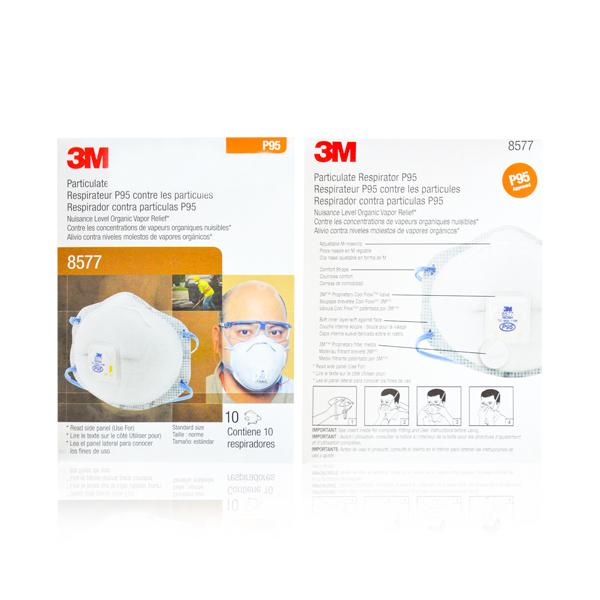 Respirador Desechable con Válvula Cool Flow para Partículas y Vapores Orgánicos P95 8577 3M (Pieza) Blanco 70070757946 … - 2