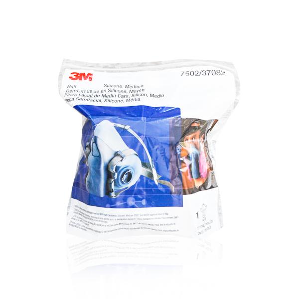 Respirador Silicón Media Cara con Válvula Cool Flow 7502 3M Azul/Gris 70071042785MD - 1