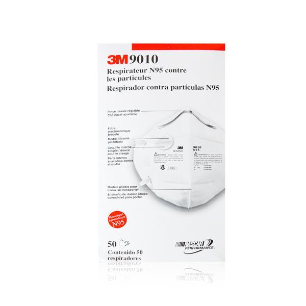 Respirador Desechable Plegable para Partículas N95 9010 3M (Pieza) Blanco MS900105117 … - 2