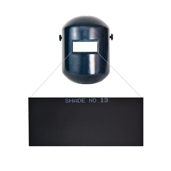 """Cristal para Careta Sombra 13 Infra Oscuro 2SC-13 2"""" x 4.25"""" - 2"""