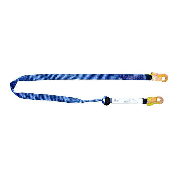 Línea de Vida Poliéster Banda Plana con Amortiguador y Doble Gancho UFS Azul USP-829 1.8 m