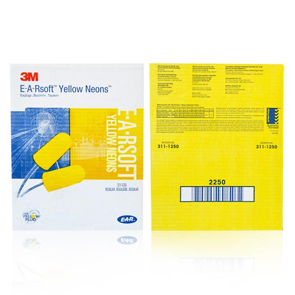 Tapón Auditivo Desechable con Cordón NRR 33 dB 311-1250 E-A-Rsoft 3M Amarillo 70071515129 - 2
