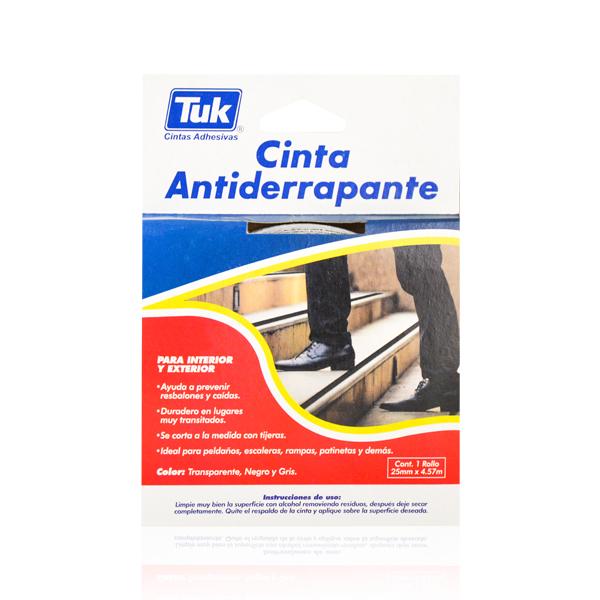 """Cinta Antiderrapante 1"""" Tuk Gris 770 4.57 m - 2"""
