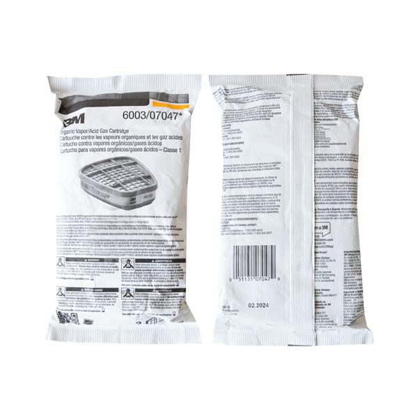 Cartucho para Vapores Orgánicos y Gases Ácidos 6003 3M (Par) … 70070316750 … - 1
