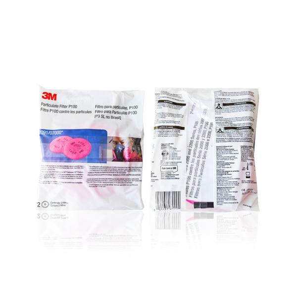 Filtro Polipropileno para Partículas P100 HEPA 2091 3M (Par) Rosa 70070614410 … - 1