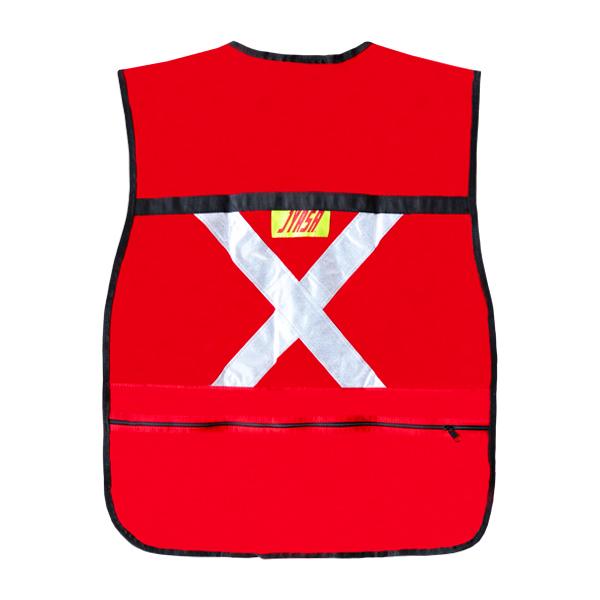 Chaleco Rescatista con 6 Bolsas Jyrsa Rojo SR-2021 - 1