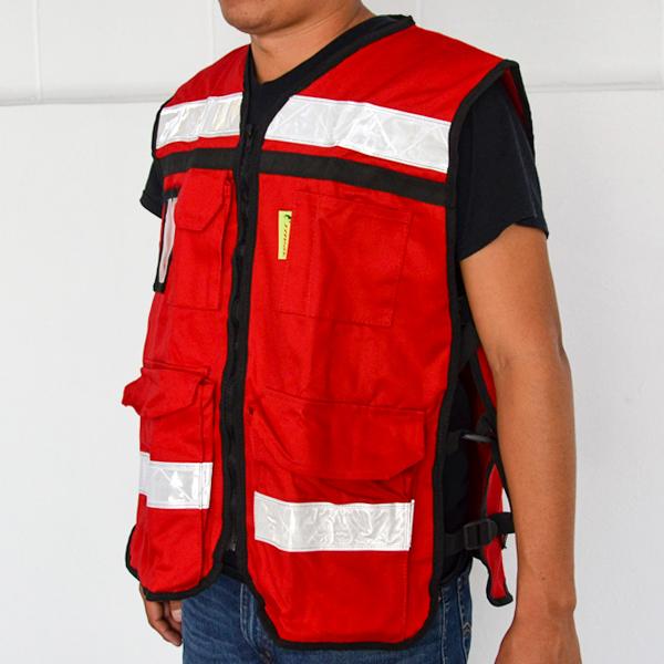 Chaleco Rescatista con 6 Bolsas Jyrsa Rojo SR-2021 - 2