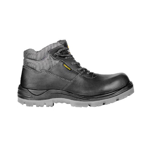 Zapato Borceguí con Casco de Poliamida Suela Pu+Hule Armada Negro 5010