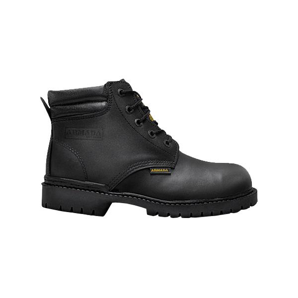 Zapato Borceguí con Casco de Acero Armada Negro 101 - 0