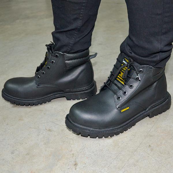 Zapato Borceguí con Casco de Acero Armada Negro 101 - 3