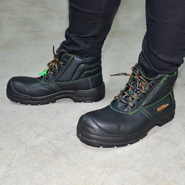 Zapato Borceguí con Casco de Policarbonato Comando Negro 705 PP+D - 3