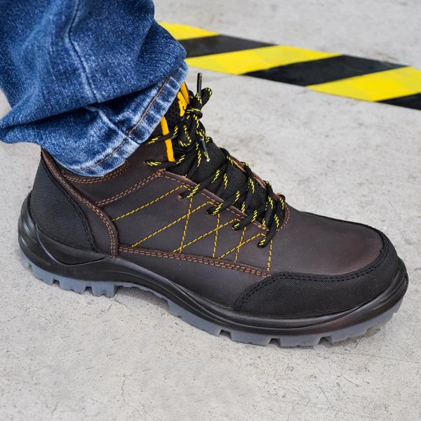 Zapato Borceguí con Casco de Composite Dieléctrico Armada Café 5016 - 3
