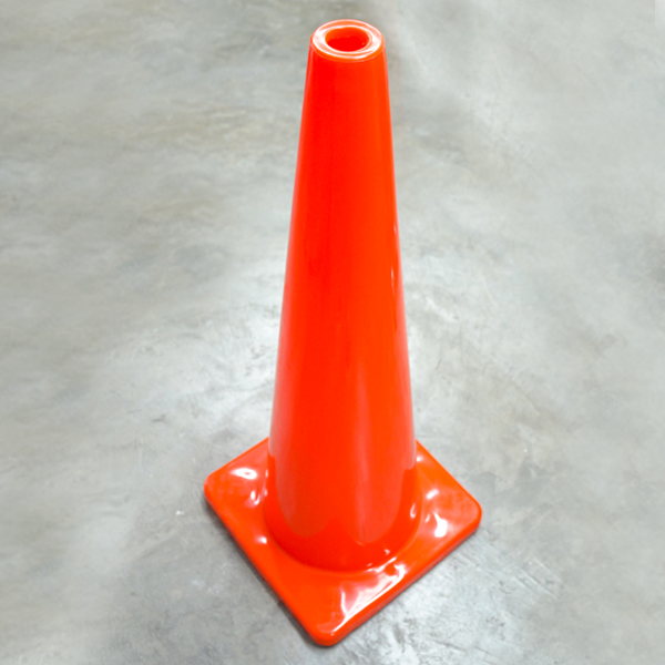 Cono PVC Premium de Seguridad Lamira Naranja ATC-90 90 cm - 2