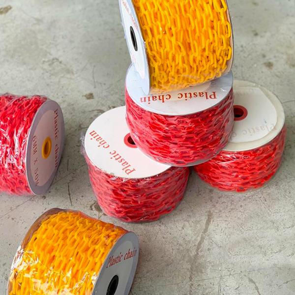 Cadena Plástica Lamira (Rollo) Rojo AS-3433 50 m - 2