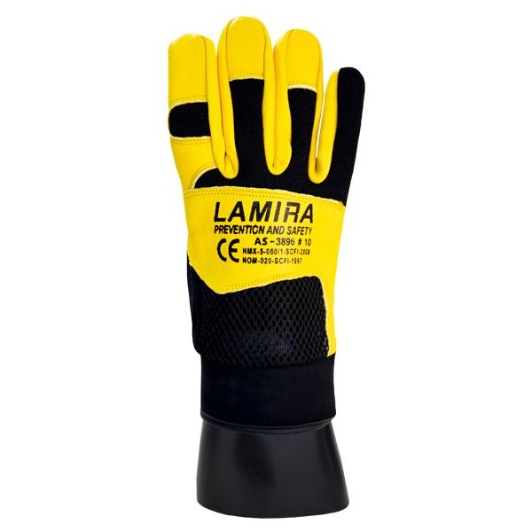 Guante Piel Multiusos Lamira (Par) Amarillo AS-3896 MD - 0