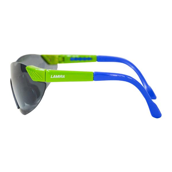 Lente Lesser Glass Policarbonato Antiempañante con Armazón Verde/Azul y Patillas Ajustables Lamira Humo 4010-GRK AF Infantil - 1