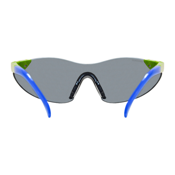 Lente Lesser Glass Policarbonato Antiempañante con Armazón Verde/Azul y Patillas Ajustables Lamira Humo 4010-GRK AF Infantil - 2