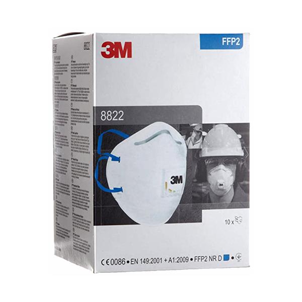 Respirador Desechable con Válvula Cool Flow para Polvo y Partículas P2 8822 3M (Pieza) Blanco HC000479564 … - 1